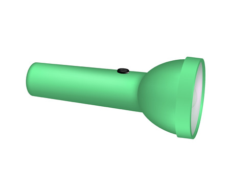 torchlight: Flashlight in green design