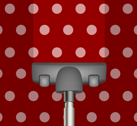 vacuum cleaner: Vacuum cleaner drains red carpet Illustration