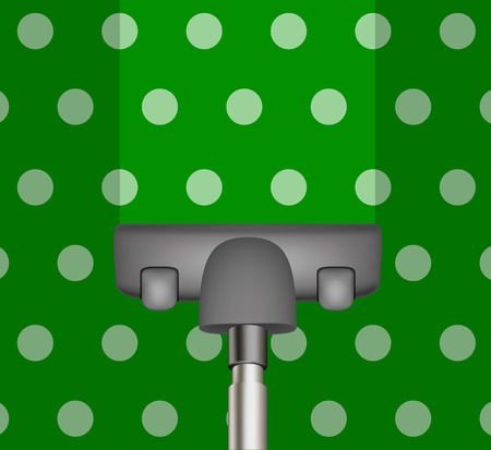 Vacuum cleaner drains green carpet Vector