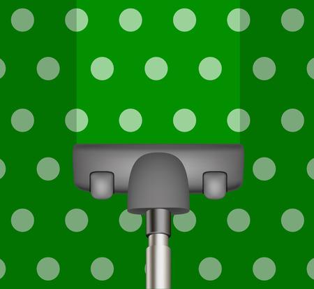 green carpet: Vacuum cleaner drains green carpet
