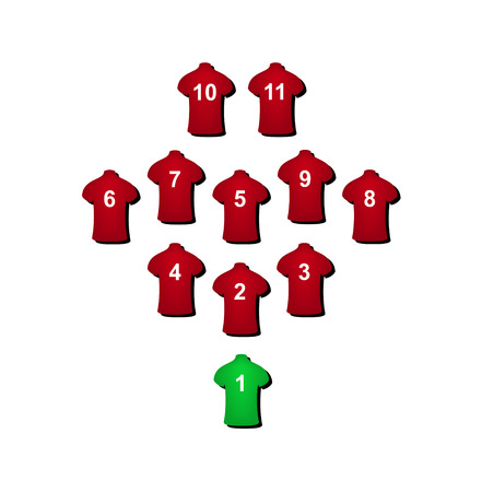 Football formation  Vector