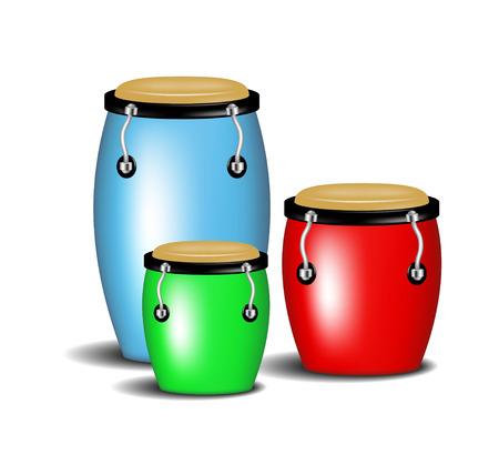 salsa dance: Multicoloured congas band