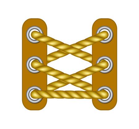 plimsoll: Laces in brown design