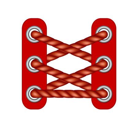 rojo oscuro: Cordones en el dise�o de color rojo oscuro