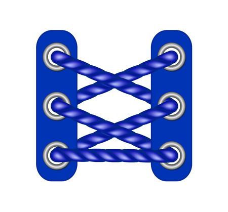 plimsoll: Laces in dark blue design