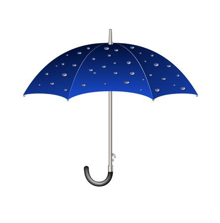 fall protection: Umbrella with raindrops