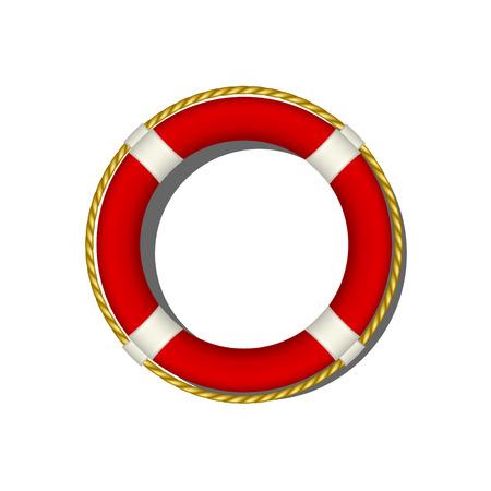 life buoy: Red life buoy