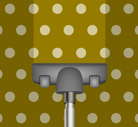drains: Vacuum cleaner drains brown carpet Illustration