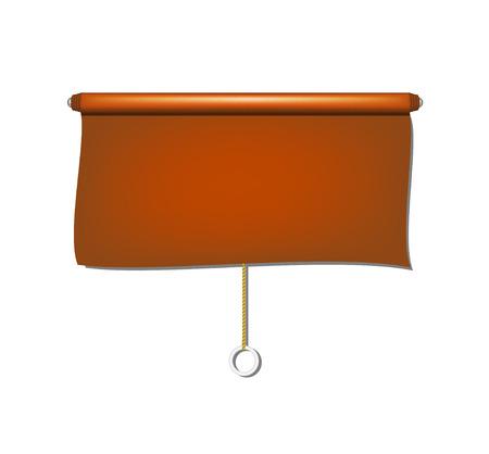 window shade: Vintage window sun blind cloth in brown design