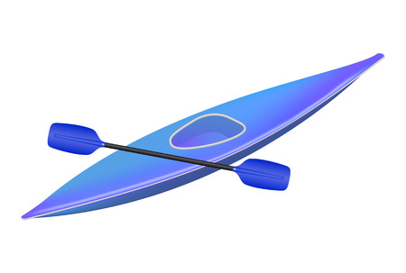 Kayak with paddle  Vector
