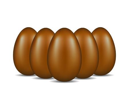oeufs en chocolat: Oeufs en chocolat debout dans la formation