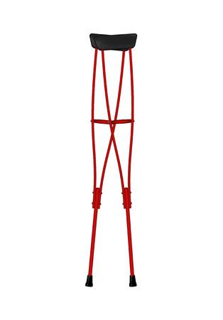 crutches: Retro crutches  Illustration