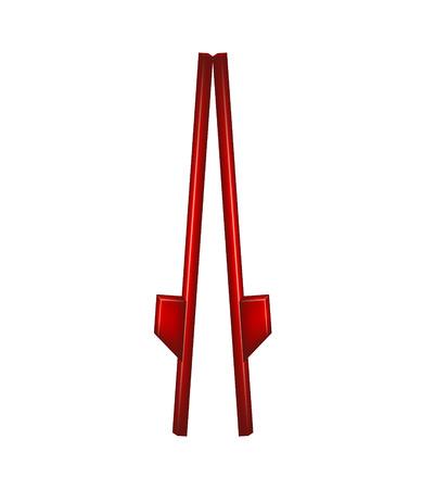 Wooden stilts in red design