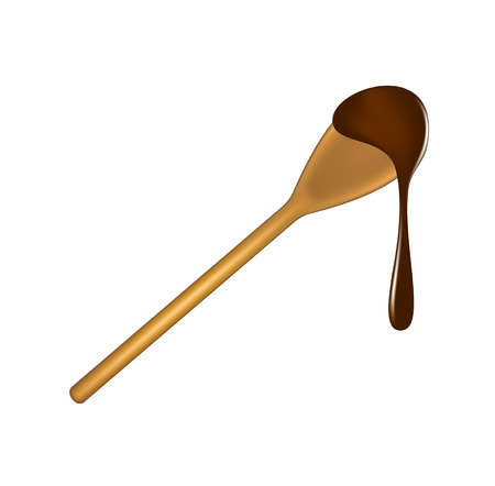 wooden spoon: Wooden spoon with chocolate