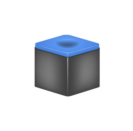 cue sports: Chalk block for billiard cue