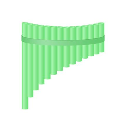 panpipe: Pan flute in light green design