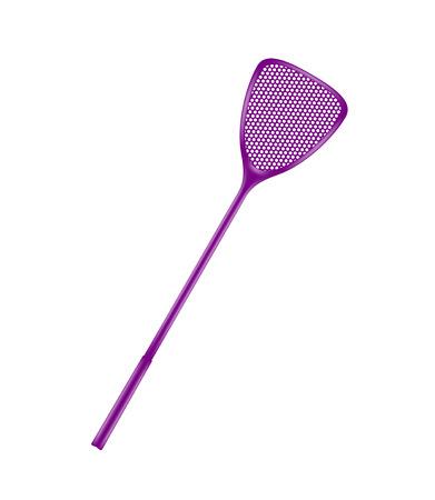 gnat: Purple flyswatter Illustration