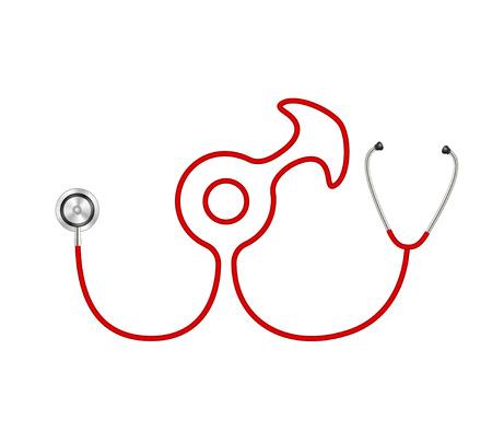 Stethoscope in shape of male symbol