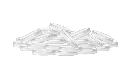 silver coins: Pile of silver coins