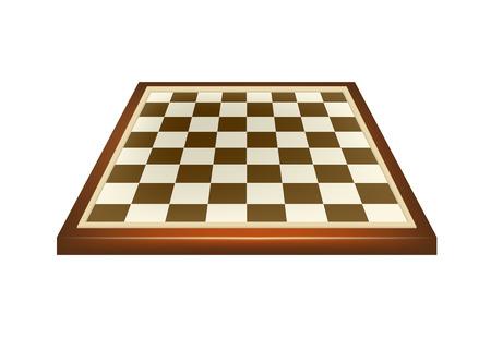 茶色のデザインで空のチェス盤