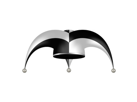 jester hat: Jester hat in black and white design