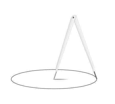 diameter: Vintage disegno bussola e cerchio Vettoriali