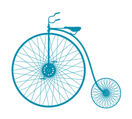 Silhouette of vintage bicycle Vector