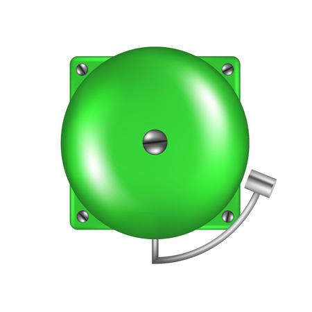 intruder: Alarm in green design Illustration
