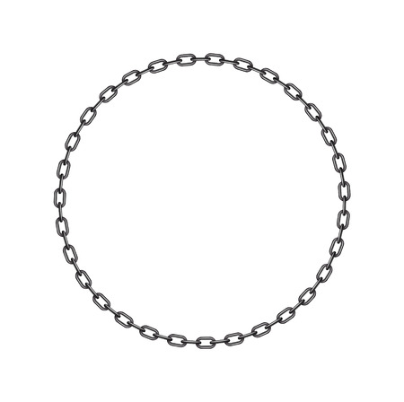 chain links: Dark chain in shape of circle