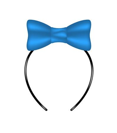파란색 디자인에 활 머리띠 일러스트