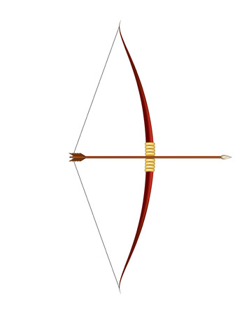 Red bow and arrow