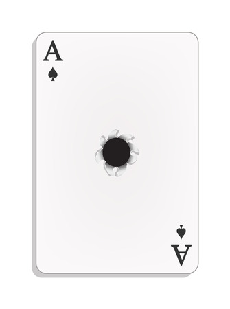 cheat: Ace of spades with bullet hole