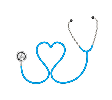 Stethoscope in shape of heart Vector