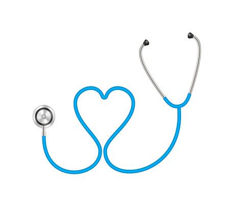 stethoscope heart: Stethoscope in shape of heart