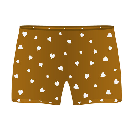 boxer shorts: Boxer shorts with white hearts