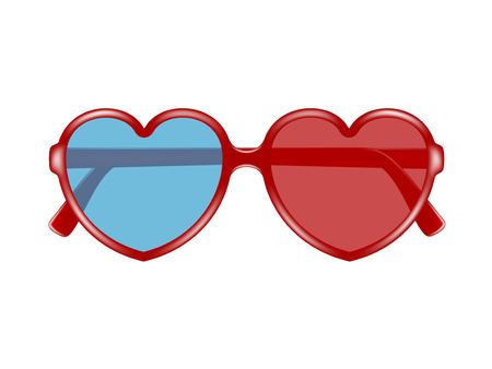 stereoscope: Cinema glasses in shape of heart