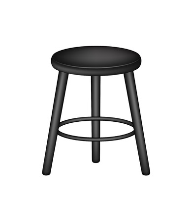 stools: Retro stool in black design