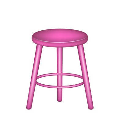 stools: Retro stool in pink design Illustration