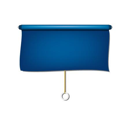 roll curtains: Vintage window sun blind cloth in blue design