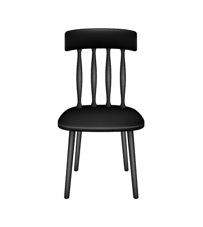 wooden chair: Wooden chair in black design Illustration