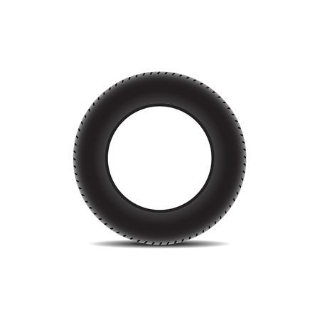 car tire: Autoband met schaduw