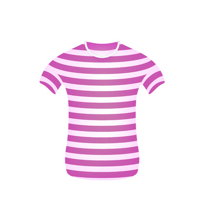 striped vest: Striped t-shirt in pink and white design