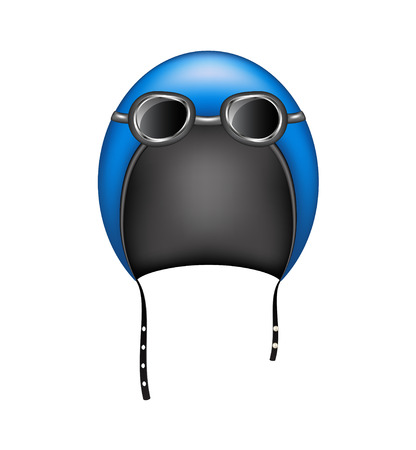 goggles: Retro motorcycle helmet and goggles Illustration