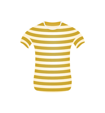 striped vest: Striped t-shirt in brown and white design