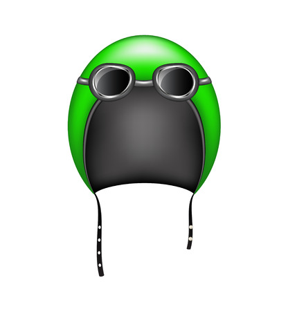 casco de moto: Casco de moto retro y gafas