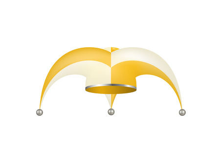 jester hat: Jester hat in white and orange design