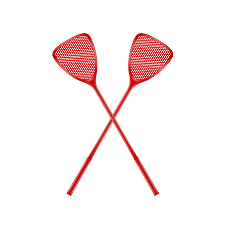 rivalry: Two crossed fly swatters