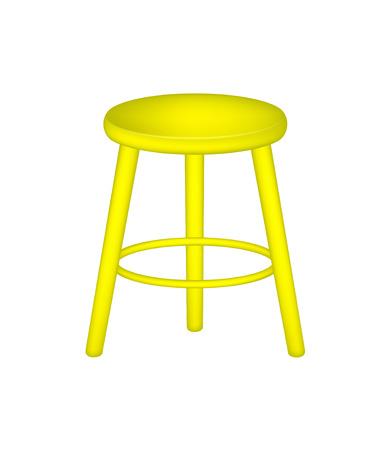 Retro stool in yellow design