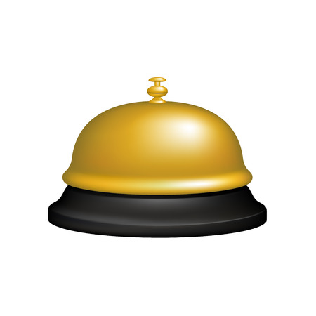 service bell: Service bell in black and golden design Illustration