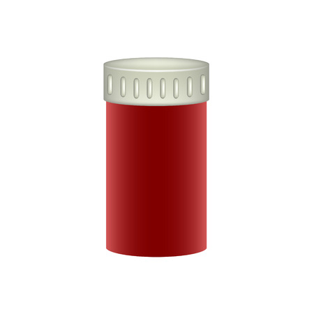 medical preparation: Medical container in red design